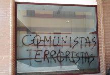 Atacan la sede de Izquierda Unida de San Andrés del Rabanedo