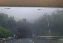 Túnel del Negrón, del verano al invierno en 20 segundos
