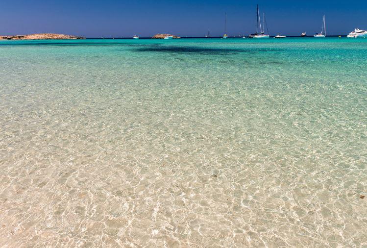 Playa nudista Ses Illetes, Formentera