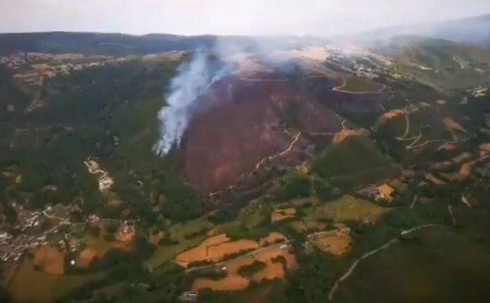 incendio en balboa (León)