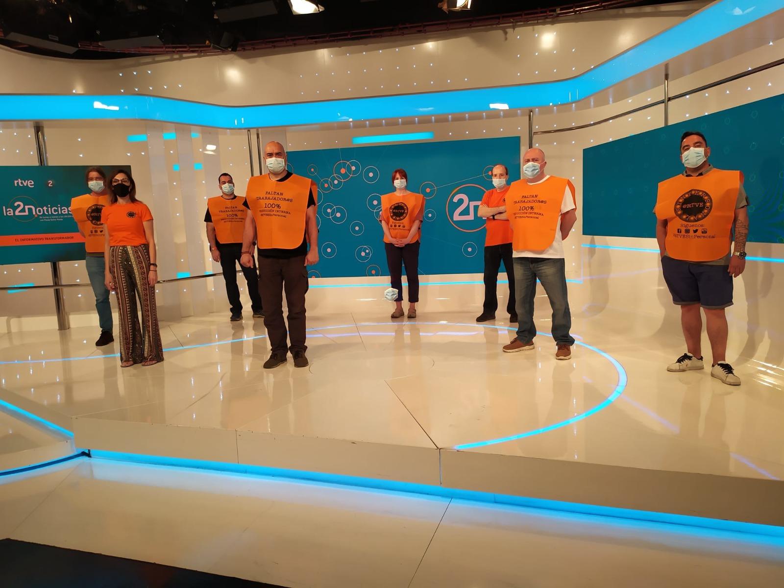 Se suspende el telediario de La 2 Noticias