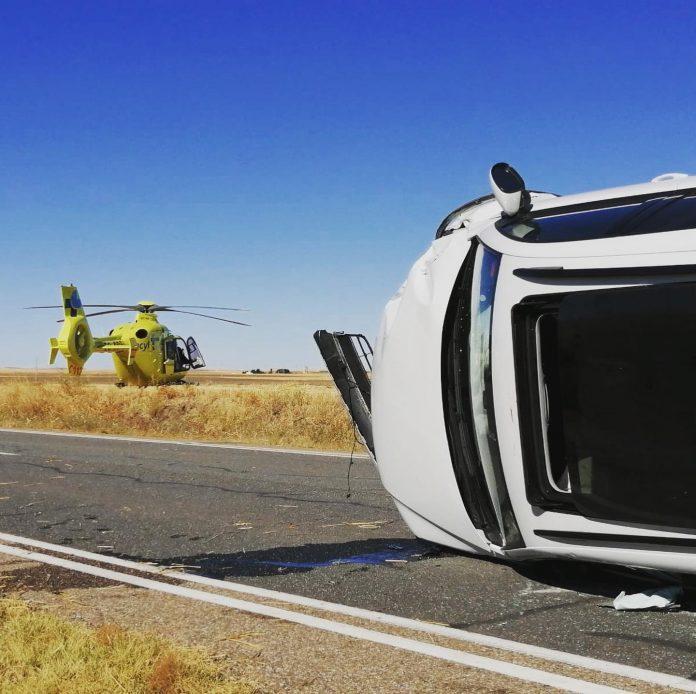 accidente en Bernuy-Zapardiel (Ávila)