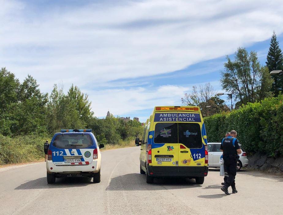 Heridos un ciclista y un peatón tras sufrir un accidente en el monte Pajariel de Ponferrada
