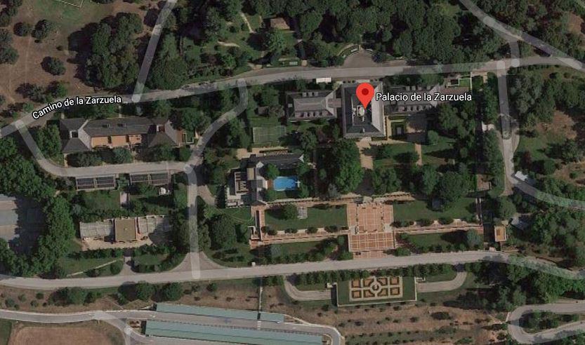 foto satélite del palacio de la zarzuela en madrid