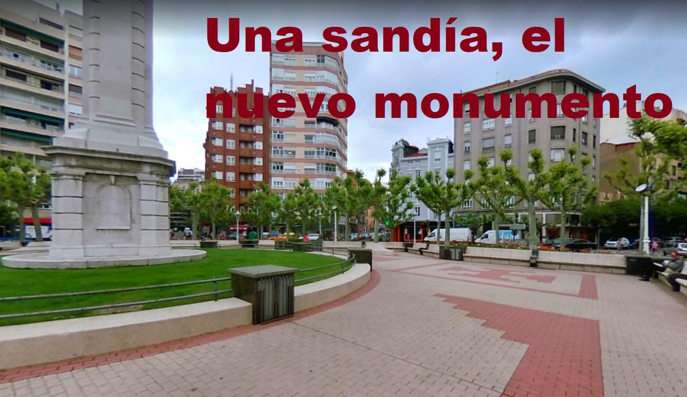 Sandía nuevo monumento león plaza inmaculada