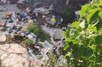 Botellones en Valverde basura