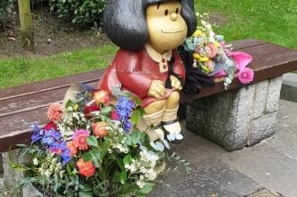 Estatua de Mafalda en Oviedo