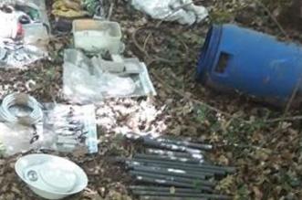 Depósito escondido de armas y explosivos de ETA