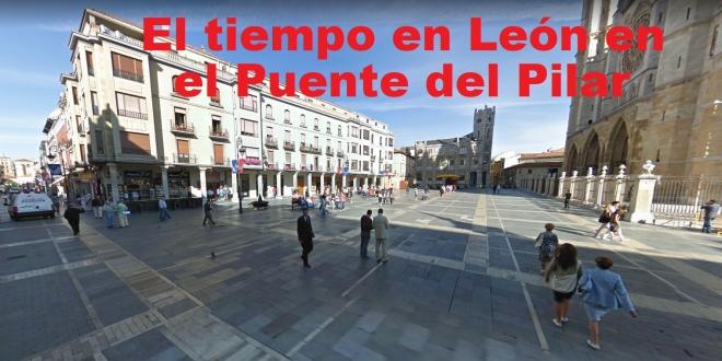 El tiempo para el Puente del Pilar en León