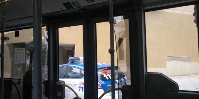 autobús atascado e León