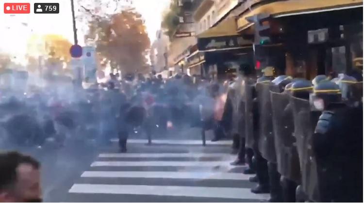 graves disturbios en París
