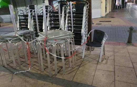 Cierre de la hostelería en León por confinamiento