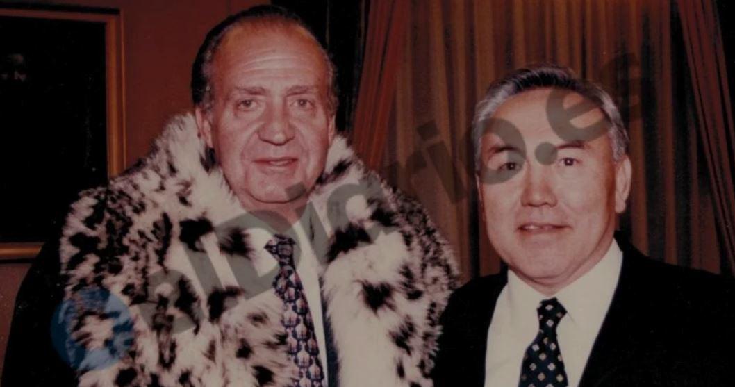 Juan Carlos I cazando cabras