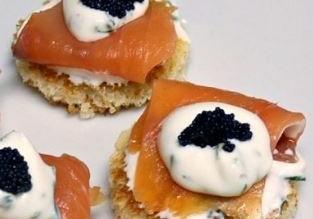 bocaditos salmon ahumado