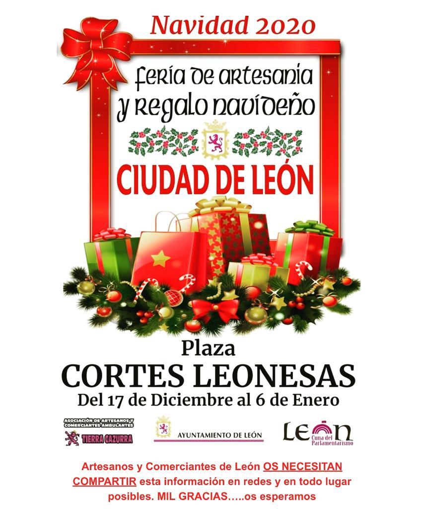 mercadillo de Navidad en León