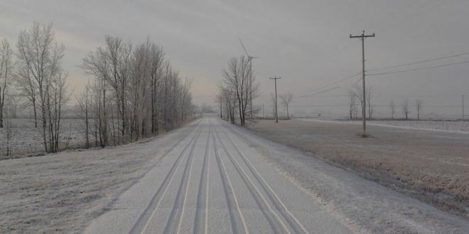 nieve carretera leon