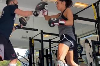 pilar-rubio-cinturon-naranja-kick-boxing