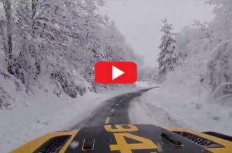 calleja camino santiago nieve