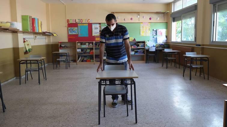 niños colegio covid