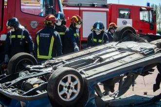 bomberos leon ayudar victimas accidentes