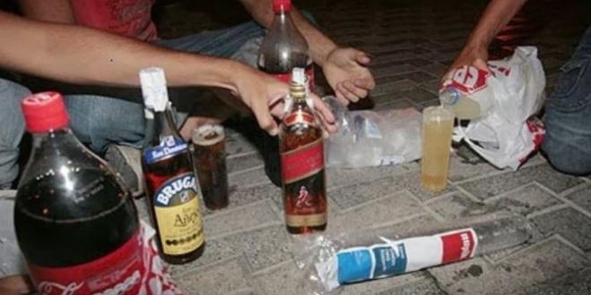 botellones enfrentamiento policia