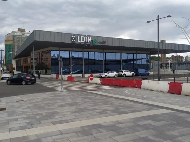obras estación tren león