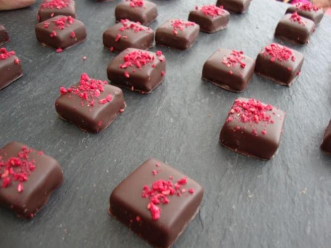 bombones chocolate fresa