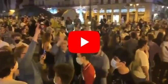 video hombre tierra fiesta madrid