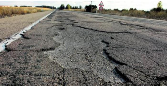 peligro carretera Leon