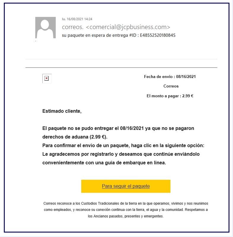 alerta nueva estafa correos-Digital de León