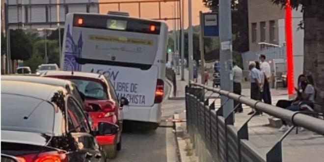 atasco averiarse autobus leon-Digital de León