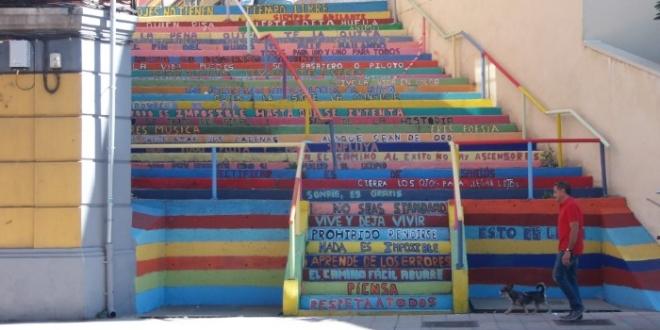 escalera de colores leon argentina-Digital de León