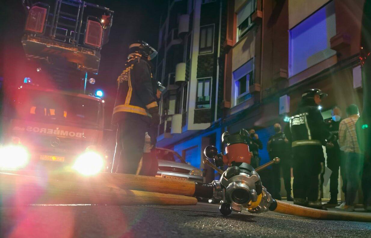 incendio en la calle virgen blanca-Digital de León