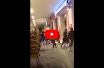 brutal pelea plaza mayor de leon-Digital de León
