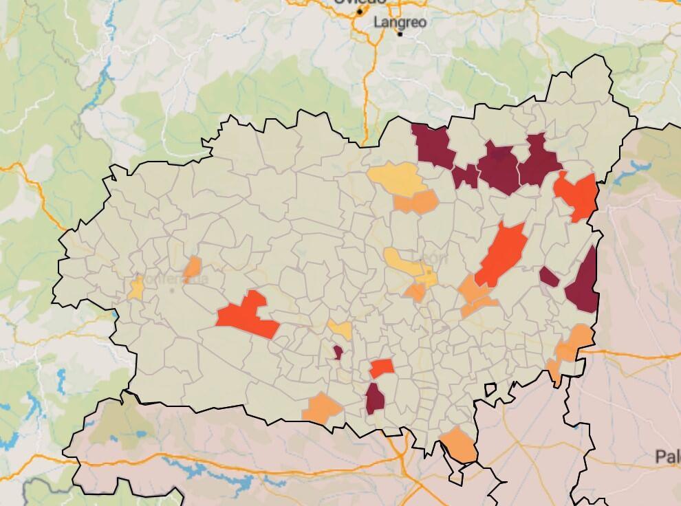 municipios en riesgo muy alto- Digital de León